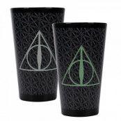 Harry Potter Deathly Hallows Färgskiftande Glas
