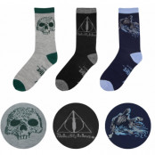 Harry Potter - Deathly Hallows Socks 3-Pack