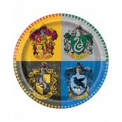 8 stk Papptallrikar 22 cm - Harry Potter