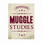 Harry Potter - Muggle Studies Tin Sign - 21 x 15 cm