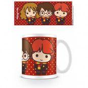 Harry Potter Mugg Kawaii Harry, Ron & Hermione