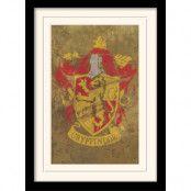 Harry Potter Inramad Poster Gryffindor Crest