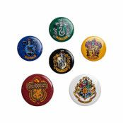 Harry Potter, 6x Pins - Hogwarts