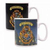 Harry Potter - Hogwarts Crest Heat Change Mug