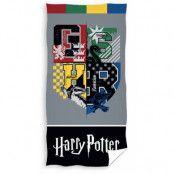 Harry Potter - Hogwarts Crest Houses Towel - 70 x 140 cm