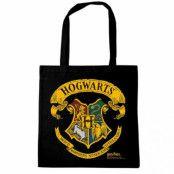 Harry Potter - Hogwarts Logo Black Tote Bag