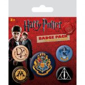 Harry Potter - Hogwarts Pin Badges 5-Pack