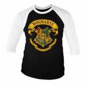 Hogwarts Crest Baseball 3/4 Sleeve Tee, Baseball 3/4 Sleeve Tee