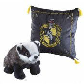 Harry Potter - Cushion with Mascot Plush - Hufflepuff