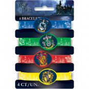 4 stk Elastiska Armband - Harry Potter