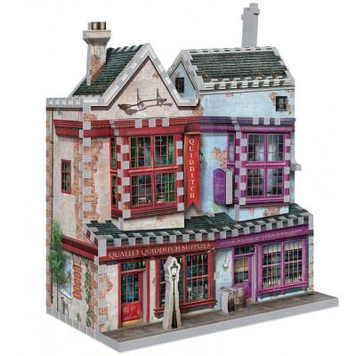 Harry Potter - Quidditch Supplies & Slug & Jiggers Apothecary 3D Puzzle